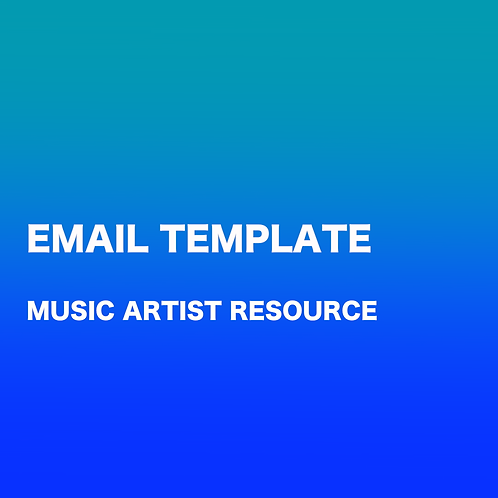 ARTIST EMAIL TEMPLATES I (MUSIC)