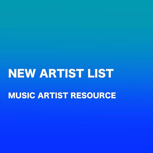 NEW ARTIST CHECKLIST (MUSIC)