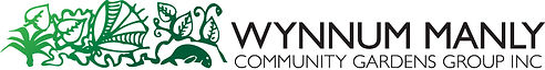 Wynnum Manly Community Gardens Group logo. Managing organisation for Bethania Street Community Garden.