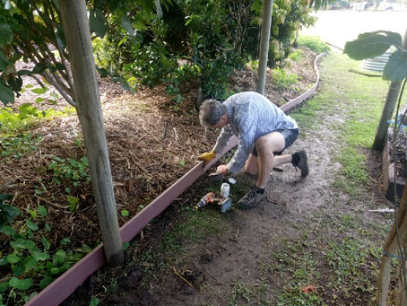 New garden edging