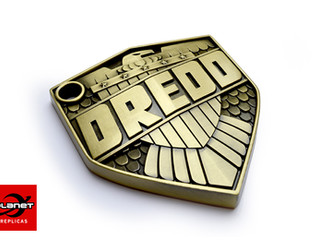 Artists Collection McMahon Dredd badge metal replica