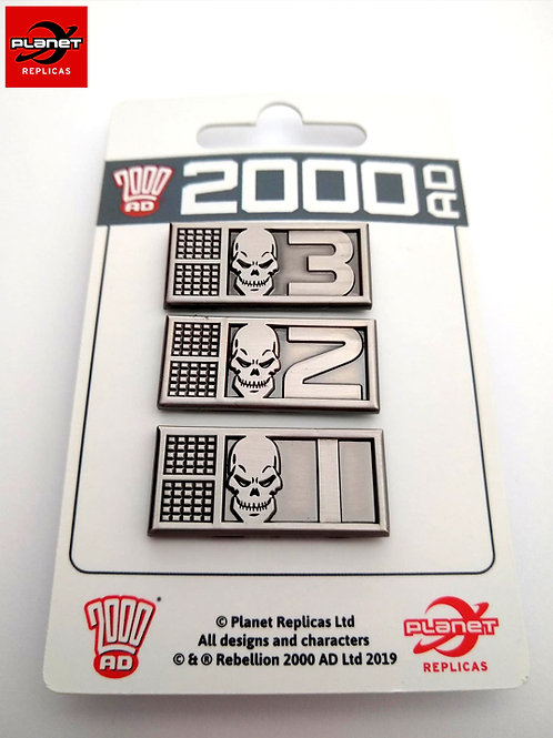 Rogue Trooper BioChip Pin Set