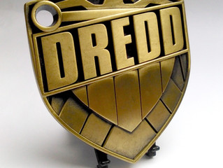 Judge Dredd Artists collection- metal Dredd badge replica styled by JOCK