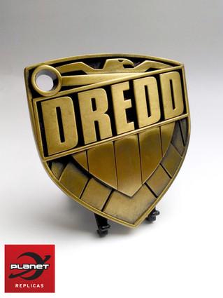 Judge Dredd Artists collection- metal Dredd badge replica styled by JOCK