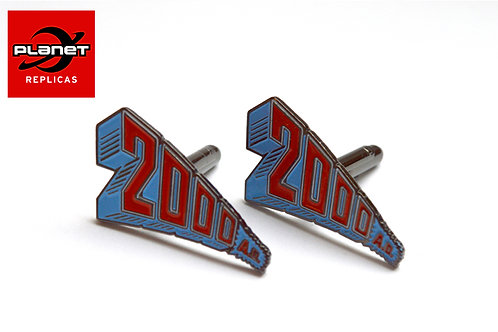 Retro 2000AD logo cufflinks