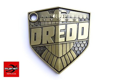 Metal 1:1 Dredd Badge styled by Mick McMahon