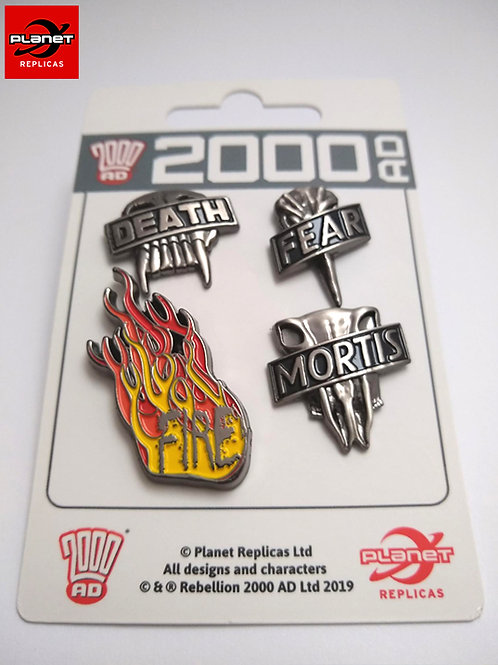 The Dark Judges Pin Set