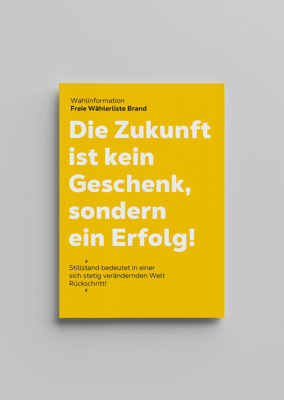 petra wolfgang/gestaltung/wahlbroschüre/brand