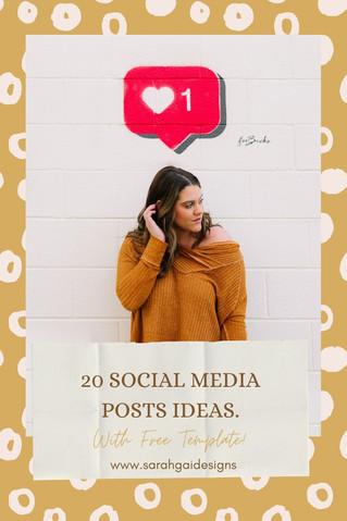 20 Social Media Post Ideas