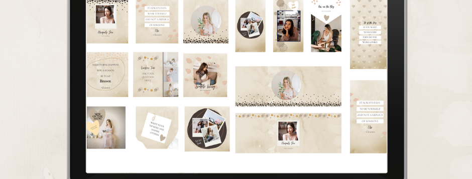 Woodland Beige Branding Kit - Canva Template
