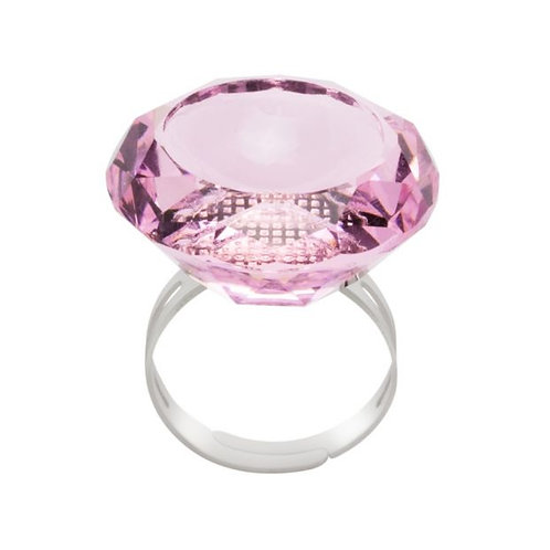 Crystal ring pink
