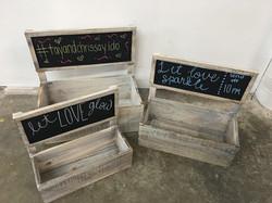 3 Wooden Chalk Box