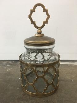 Metal Apothecary Jar