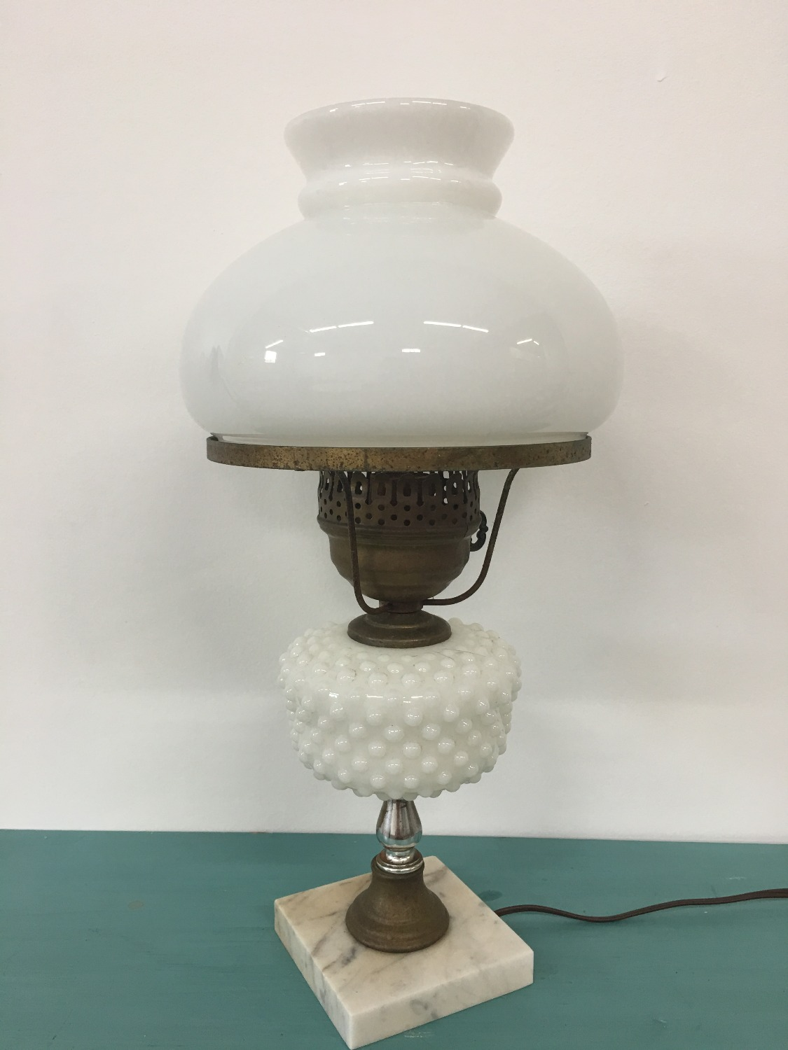 Antique Milk Glass Lamp