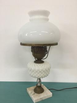 Antique Milk Glass Lamp