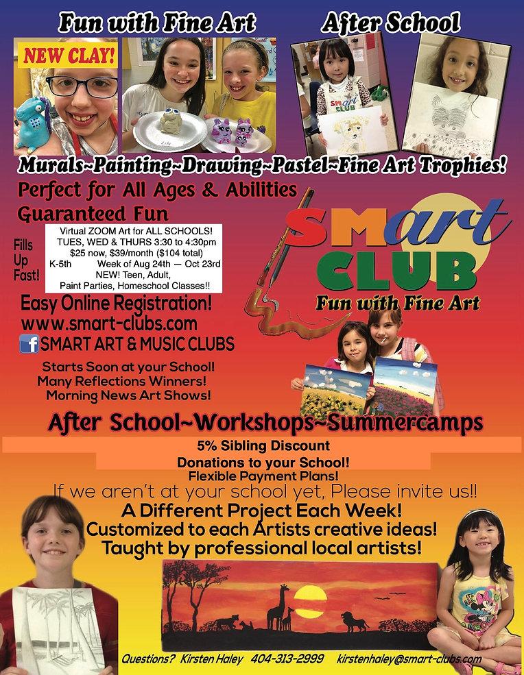 Smart Art Club Virtual Classes Fall 2020