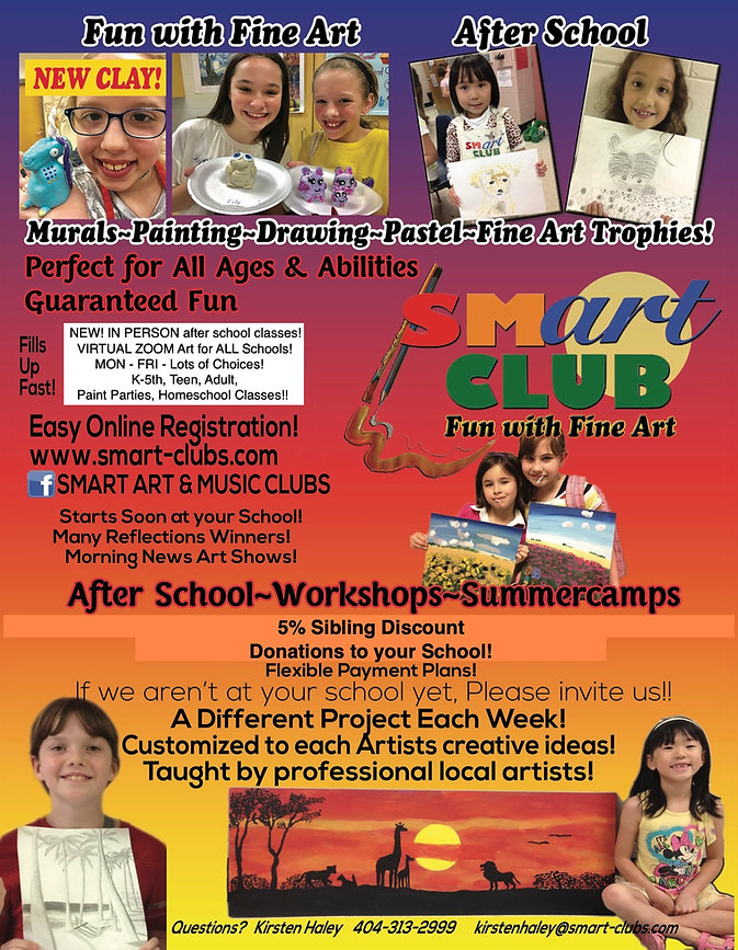 Smart Art Club Fall 2020 in person + vir