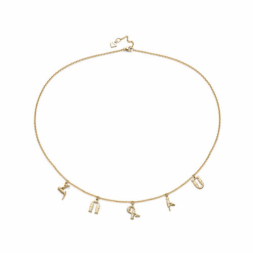 """Armenian """"Hokis"""" Necklace in Yellow Gold"""