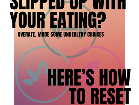 Slipped up with your eating? Here's how to reset.