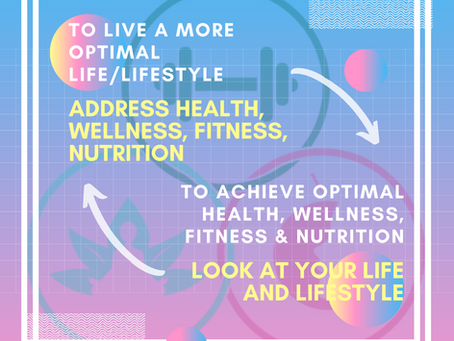 Connecting the dots between health & wellness, life/lifestyle, fitness and nutrition