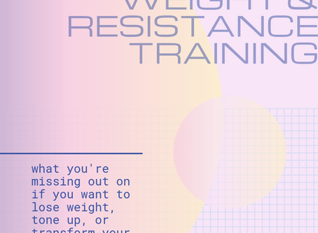 Why You Need Strength & Resistance Training - Especially Females Wanting to Lose Weight or Tone Up