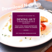 Dining out in the Lowcountry ig graphic.