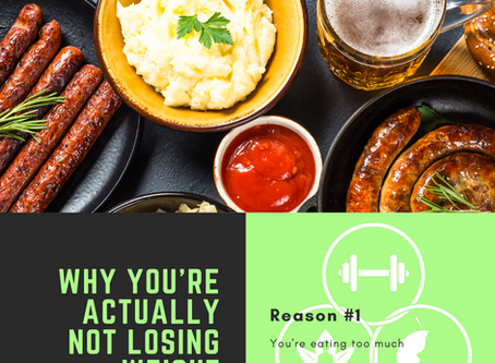 Why you're not actually losing weight, Reason #1: