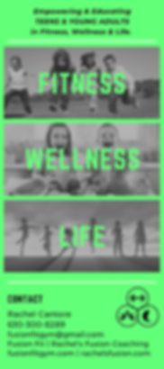 fit well life program rack card neon gre