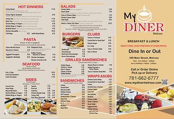 My Diner Melrose Menu