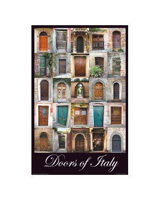 """Doors of Italy - English - Small – 11"""" x 17"""""""