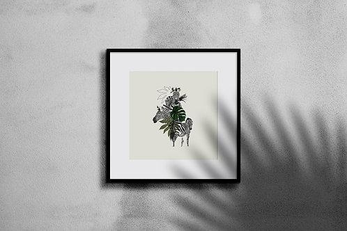 ZEBRA COLLAGE WALL ART