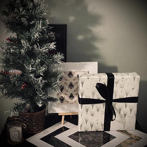 CHRISTMAS GIFT SET - SET OF 4 PRINTS ( BOTANICAL PRINTS )