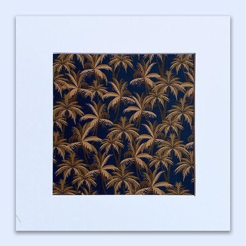 GOLDEN PALM TREES WALL ART