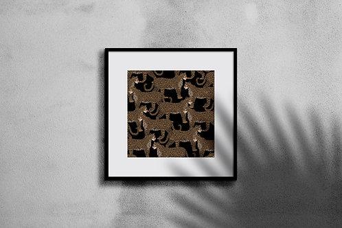 LEOPARD PATTERN WALL ART