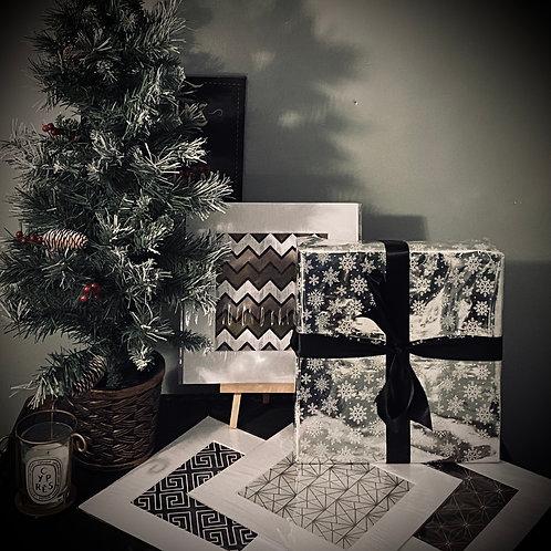 CHRISTMAS GIFT SET - SET OF 4 PRINTS ( GEOMETRIC PRINTS )