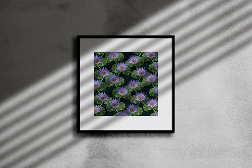 TROPICAL WATER LILLY WALL ART