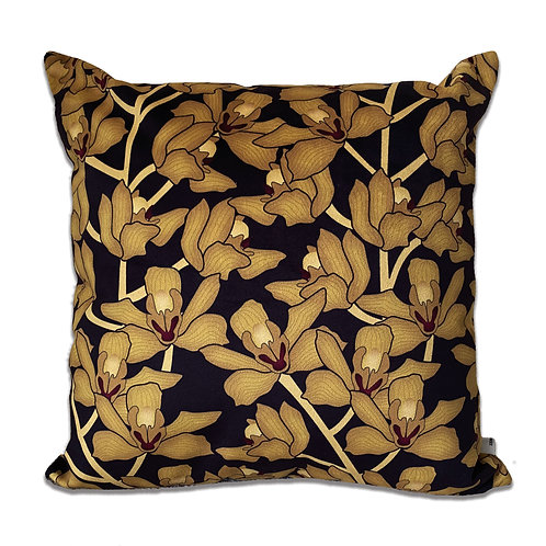 GOLDEN ORCHID CUSHION