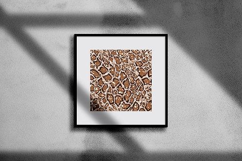 GIRAFFE PRINT WALL ART