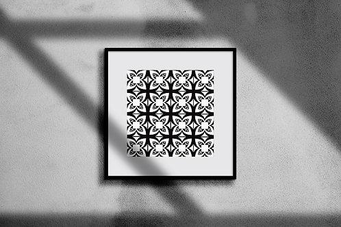 MONOCHROME GEOMETRIC WALL ART