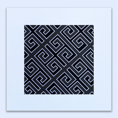 GREEK MONOCHROME GEOMETRIC WALL ART
