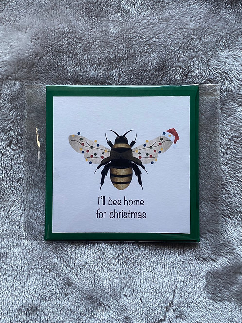 HANDMADE CHRISTMAS CARD - BUMBLE BEE