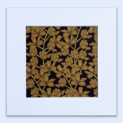 GOLDEN ORCHIDS WALL ART