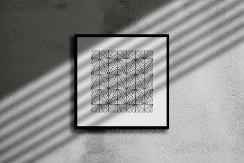 SILVER STONE GEOMETRIC WALL ART