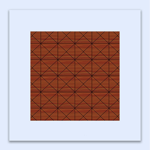 RETRO ORANGE GEOMETRIC WALL ART