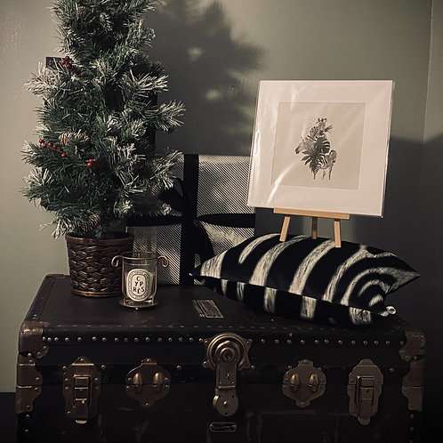 CHRISTMAS GIFT SET - ZEBRA CUSHION COVER + PRINT
