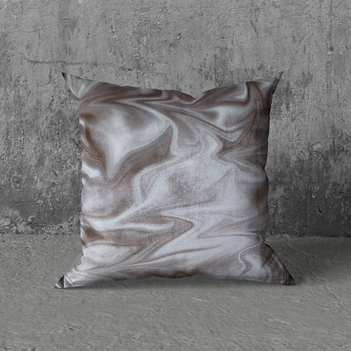 FEATHERED WHITE GOLD CUSHION