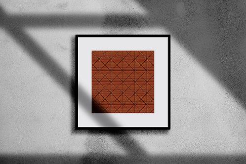 RETRO ORANGE GEOMETRIC WALL ART