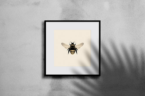 BUMBLE BEE COLLAGE WALL ART