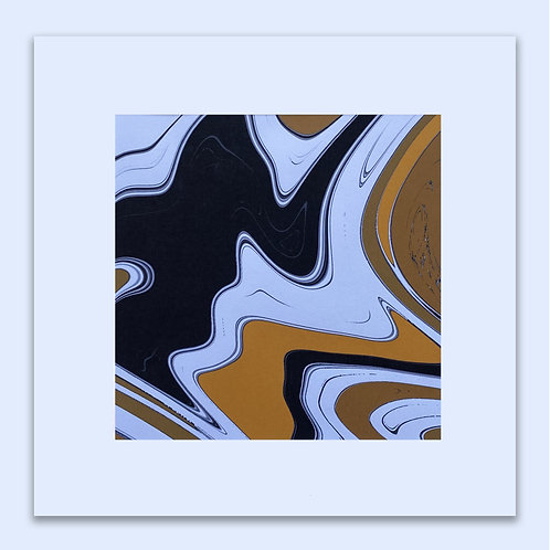 MARBLED COW WALL ART