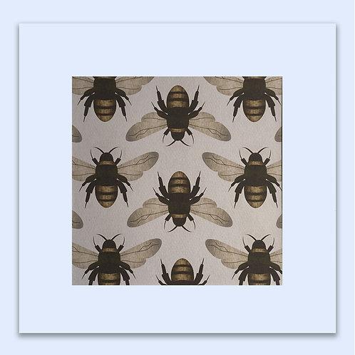 BUMBLE BEE WALL ART